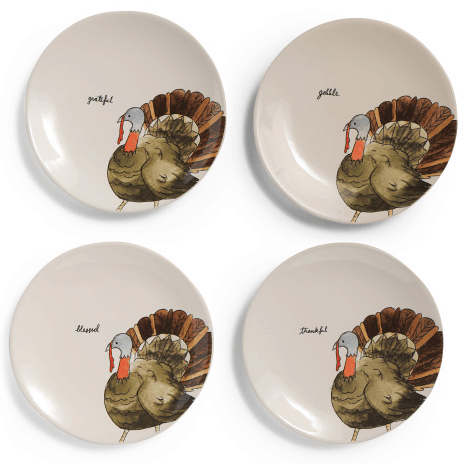 Rae Dunn turkey plates