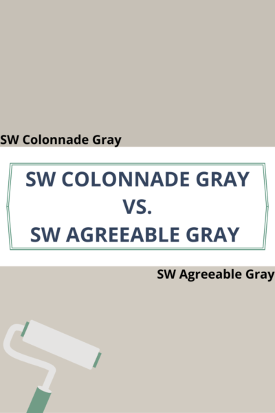 Sherwin Williams Collonade Gray vs. Agreeable Gray