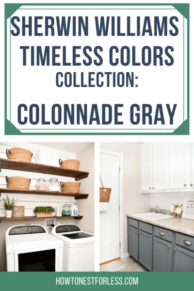 Sherwin Williams Timeless Colors collection: Colonnade Gray. This timeless gray color has just the right amount of neutral and grey to be a great foundational color in your whole house!