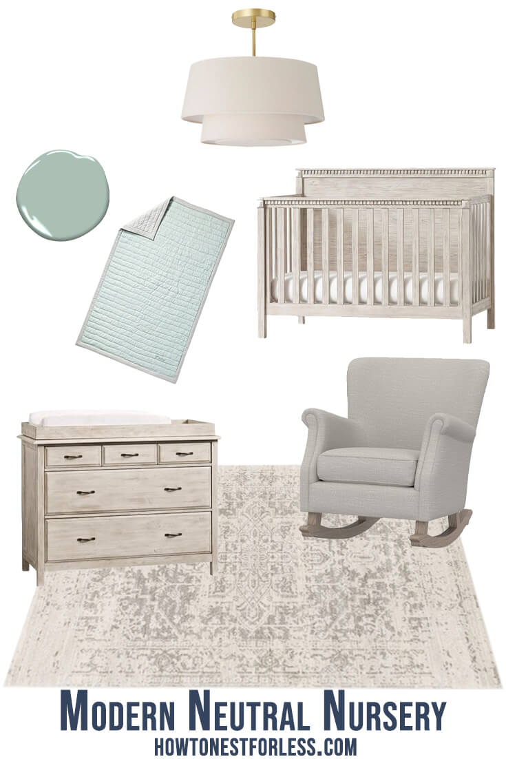 Modern Gender Neutral Nursery Design Mood Board