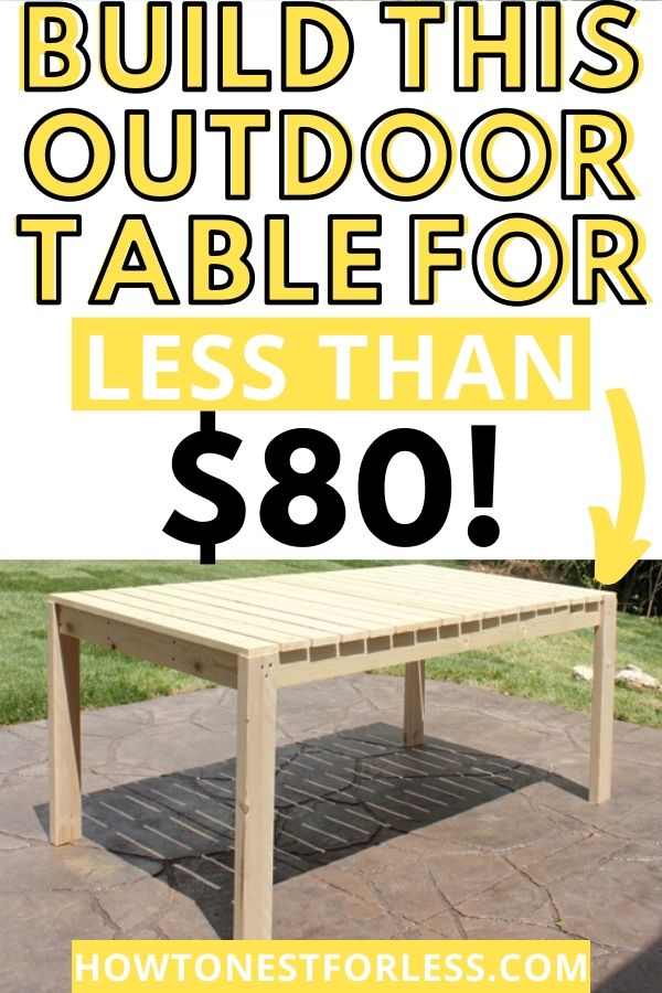 How to build an outdoor table!