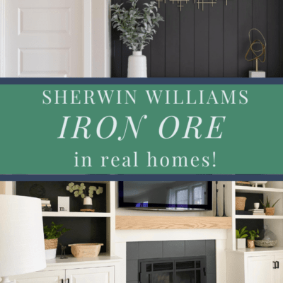 Sherwin Williams Iron Ore in real homes