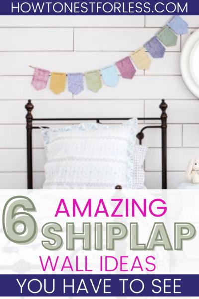 shiplap wall ideas pinterest graphic